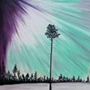 Aurora-oil Painting Poster by Rejeena Niaz