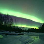 Aurora Over Ice Poster