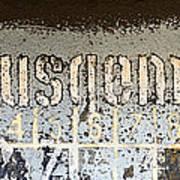 Ausgemustert Sign On Nazi Railway Car Poster