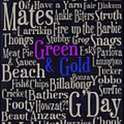 Aussie Lingo Poster