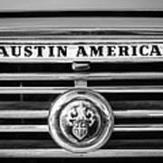 Austin America Grille Emblem -0304bw Poster