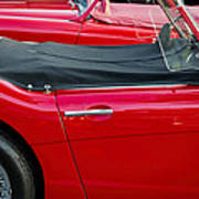 Austin Healey Red Poster