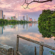 Austin Skyline From Lou Neff Point Poster