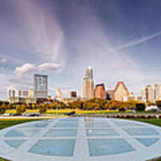 Austin Skyline From The Longs Center For The Performing Arts Poster