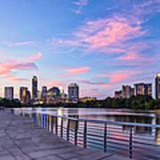 Austin Skyline At Sunset Poster
