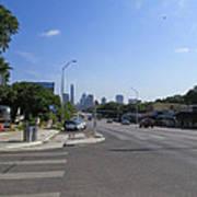 Austin Texas Congress Street View Poster