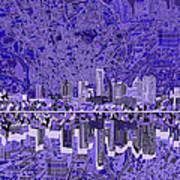Austin Texas Skyline 4 Poster
