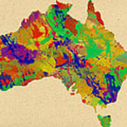 Australia Watercolor   Poster