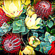Australian Wild Flowers Poster