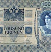 Austria Banknote, 1902 Poster