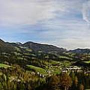 Austrian Autumn Scenic Panorama 2 Poster