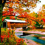 Authentic Covered Bridge Vt Poster