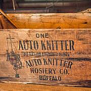 Auto Knitter Box Poster