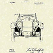 Automobile 1920 Patent Art Poster