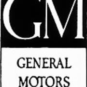 Automobiles Gm Logo Poster