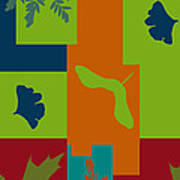 Autumn Abstract A La Matisse Poster