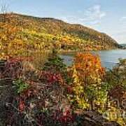 Autumn Along The Hudson Poster