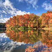 Autumn At Boley Lake Poster by Jaki Miller