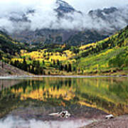 Autumn At Maroon Bells In Colorado Poster