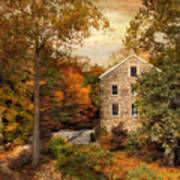Autumn At Stone Mill Poster