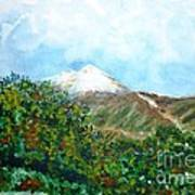 Autumn At The Foot Of Mount Elbrus Poster