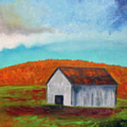 Autumn Barn In Color Poster