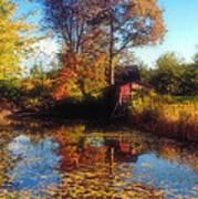 Autumn Barn Poster