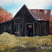 Autumn - Barn -orange Poster