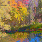 Autumn Beside The Pond Poster