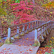 Autumn Bridge Poster