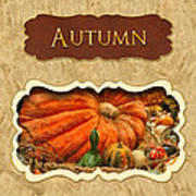 Autumn Button Poster by Mike Savad