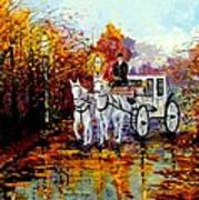 Autumn Carriage Poster