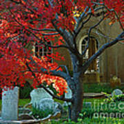 Autumn Charleston Churchyard Poster