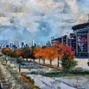 Autumn Chicago White Sox Us Cellular Field Mixed Media 03 Poster