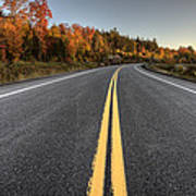 Autumn Colors And Road  Poster
