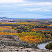 Autumn Colors On The Ebro River Poster