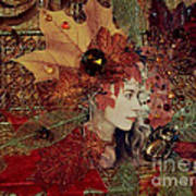 Autumn Dryad Collage Poster