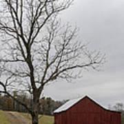 Autumn Dusk On The Farm Poster