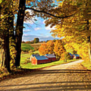 Autumn Farm In Vermont Poster