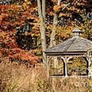 Autumn Gazebo Poster