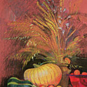 Autumn Harvest Poster by Claire Spencer