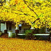 Autumn Homestead Poster
