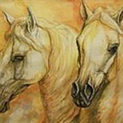 Autumn Horses Poster by Silvana Gabudean Dobre