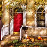 Autumn - House - A Hint Of Autumn  Poster