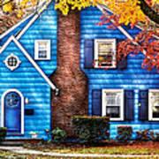 Autumn - House - Little Dream House  Poster