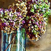 Autumn Hydrangeas Photoart Poster