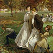Autumn In Kensington Gardens Poster