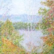 Autumn By The Lake In New Hampshire Poster
