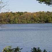 Autumn Lakeside Poster