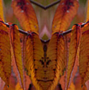 Autumn Leaves 03 Mirror Image Poster
